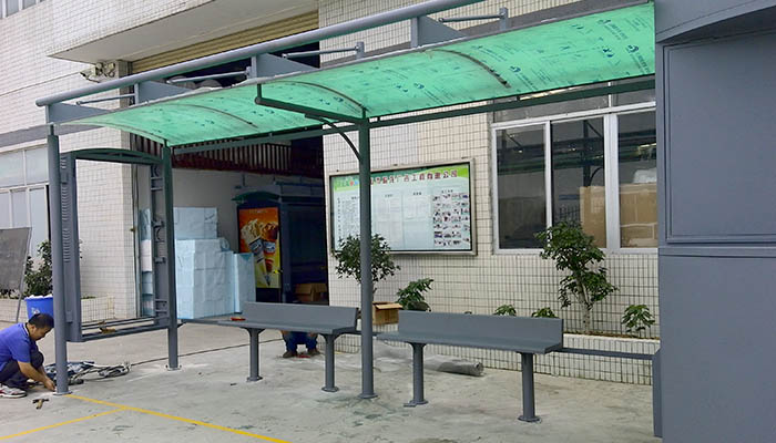 YEROO-Best Smart Bus Stop Outdoor Advertising Street Furniture Metal Bus Stop-6