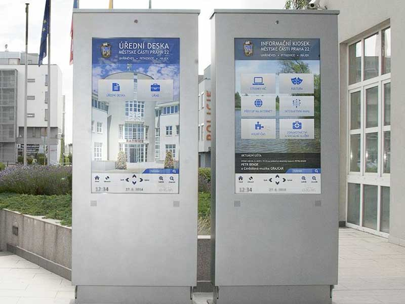 YEROO-Manufacturer Of Outdoor Digital Signage Parking Lot Outdoor Lcd Touch Kiosk-16