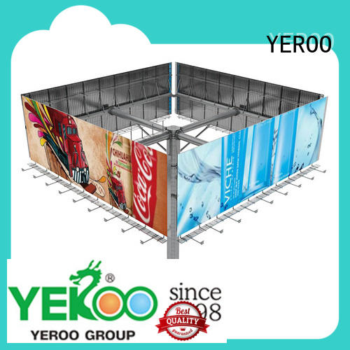 YEROO solar powered billboard manufacturer for store