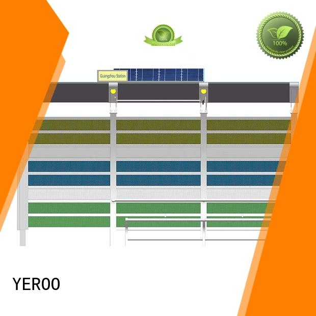 YEROO energy-saving bus shelter advertising customized colar for outdoor ads