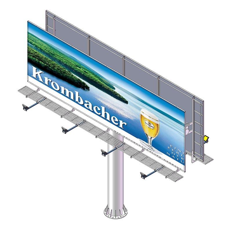 Double sided front-light ground stand billboard (straight)
