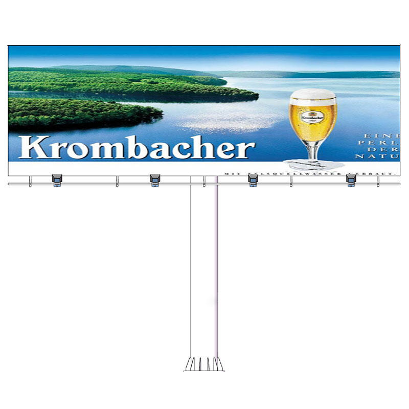 YEROO-B-002 Double sided front-light ground stand billboard (straight)