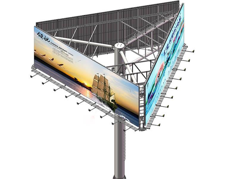 YEROO-Outdoor Billboards, Three-sided Highway Outdoor Advertising Steel-2