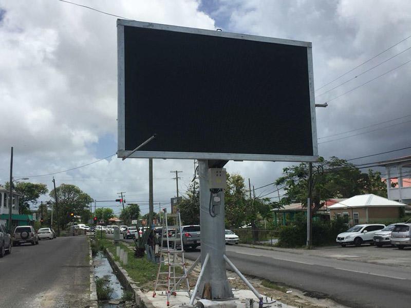 Antigua LED single side screen billboard