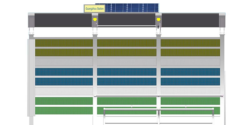 YEROO-Solar Powered Bus Shelter Outdoor Steel Structure Solar Powered