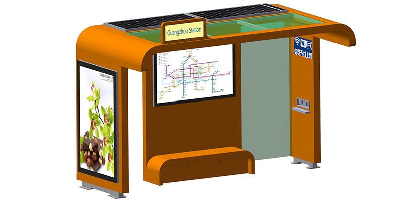 powered solar powered bus stop powered public furniture YEROO