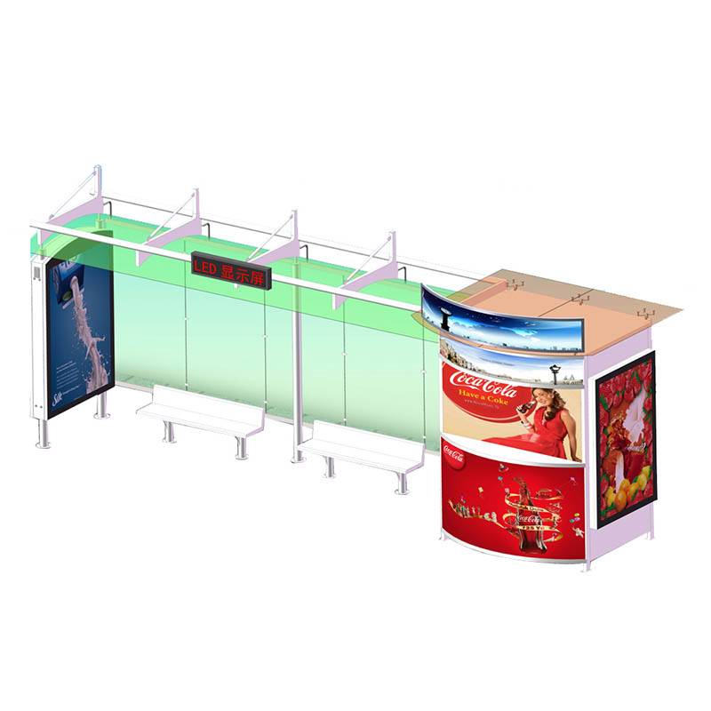 YEROO-Find Bus Stop Manufacturers Outdoor Smart Bus Shelter With Digital Advertising-1