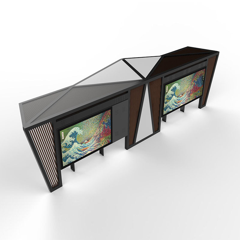 YEROO-Outdoor smart bus stop shelter with mobile charger YR-BS-0008