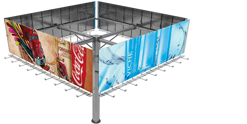 YEROO-Billboard Structure | Outdoor Advertising Steel Four Sides Front-light