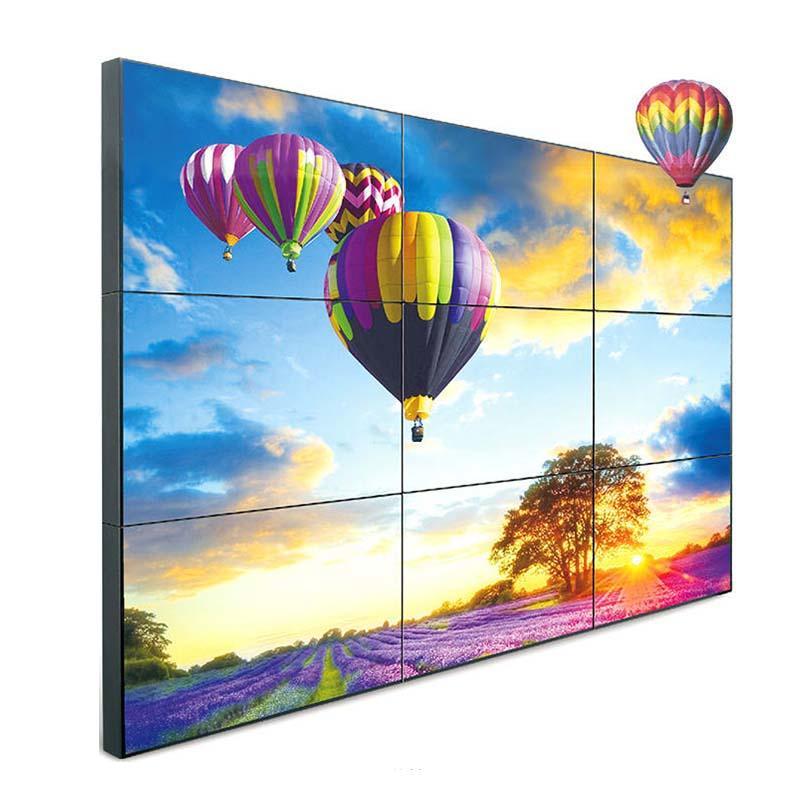 YR-LCD-0001 Super narrow bazel wall mounted lcd splicing screen YR-lg-0001