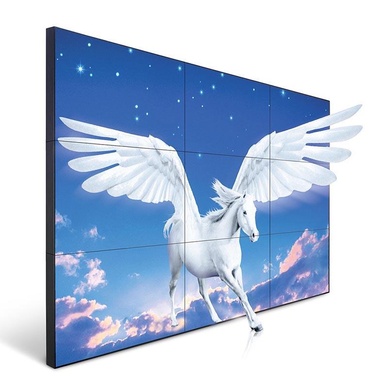 Super narrow bazel wall mounted lcd splicing screen YR-lg-0001