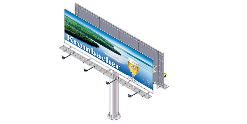 round shaped outdoor billboards bulk production for super mall