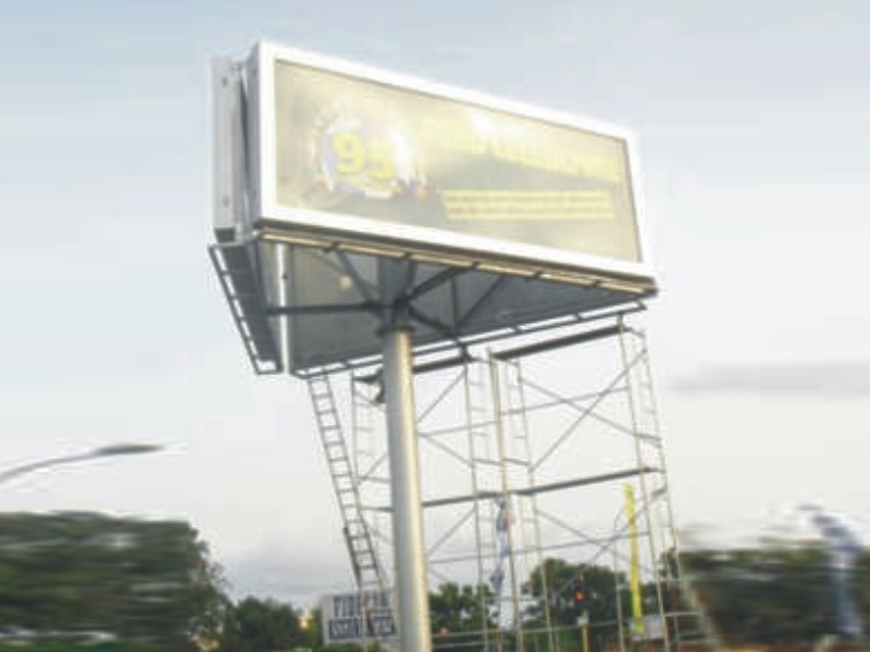 convenient advertising backlit billboard steel structure for highway YEROO-26