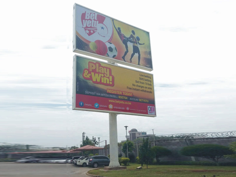 convenient advertising backlit billboard steel structure for highway YEROO-29