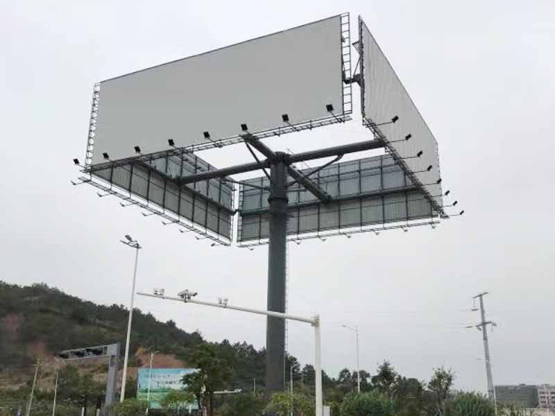 YEROO-Billboard Structure | Outdoor Advertising Steel Four Sides Front-light-30