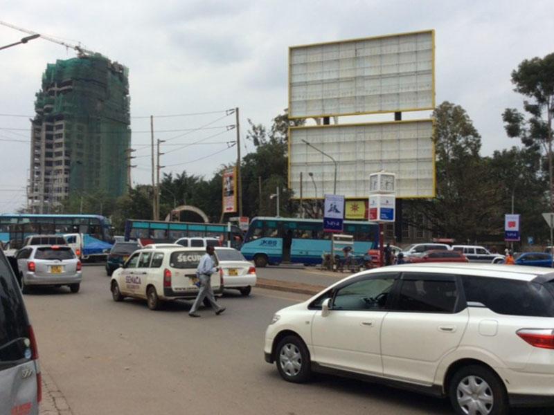 Double decker backlit billboard