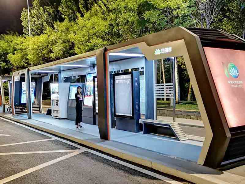 YEROO-Best Smart Bus Stop Outdoor Advertising Street Furniture Metal Bus Stop-19