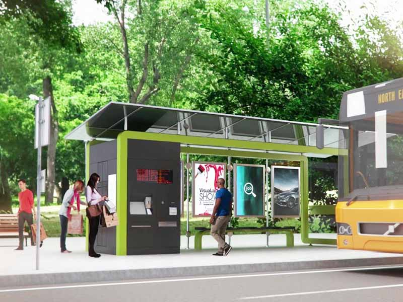 YEROO-Best Smart Bus Shelter Multi-functional Steel Structure Advertising Outdoor-21