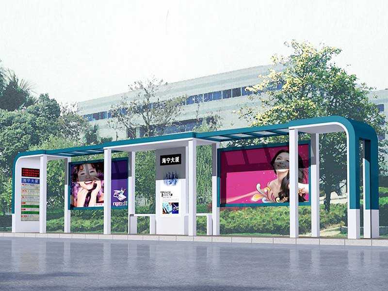 YEROO-Best Smart Bus Shelter Multi-functional Steel Structure Advertising Outdoor-24