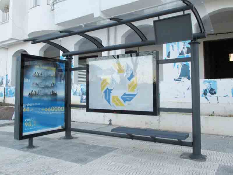 YEROO-Bus Stop Shelter, Outdoor Stainless Steel Advertising Bus Shelter-21