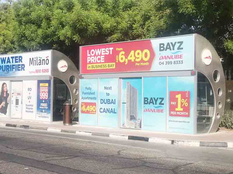 YEROO-Bus Stop Shelter, Outdoor Stainless Steel Advertising Bus Shelter-24