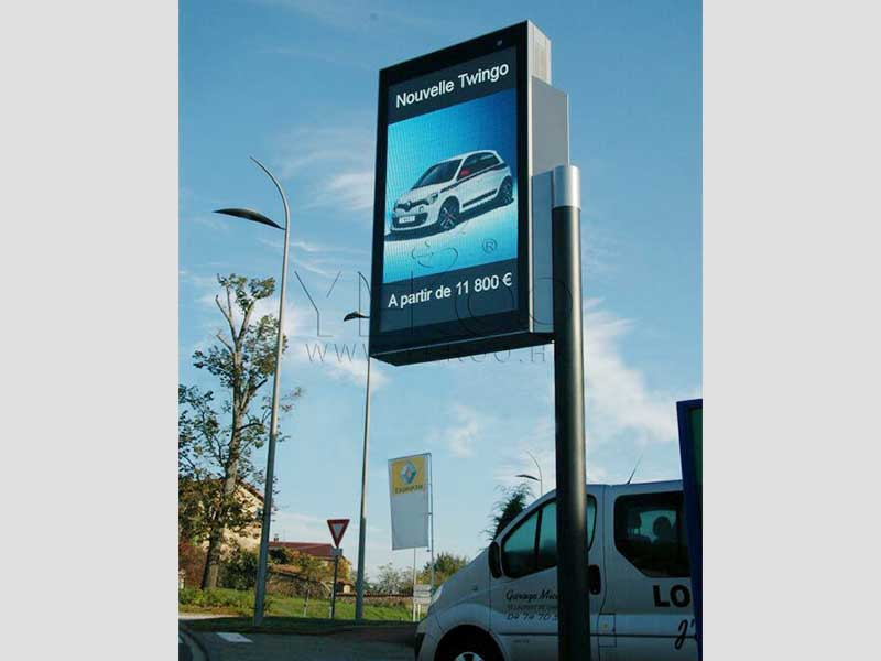 YEROO-Mupi Digital, Lamp Post Advertising Digital Led Screen Display-23