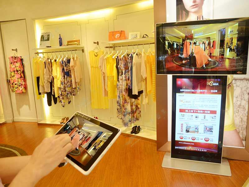YEROO floor digital kiosk advertising pos for store-13