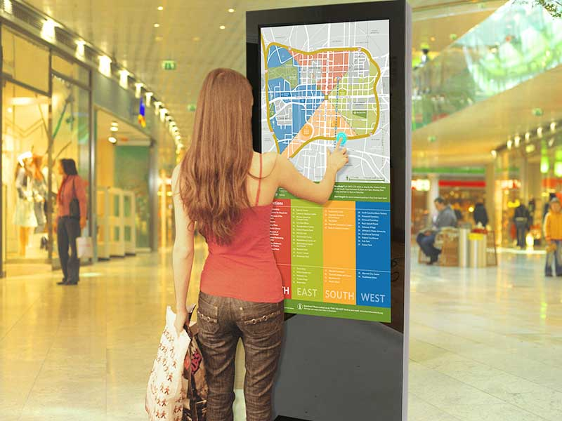 YEROO floor digital kiosk advertising pos for store-14