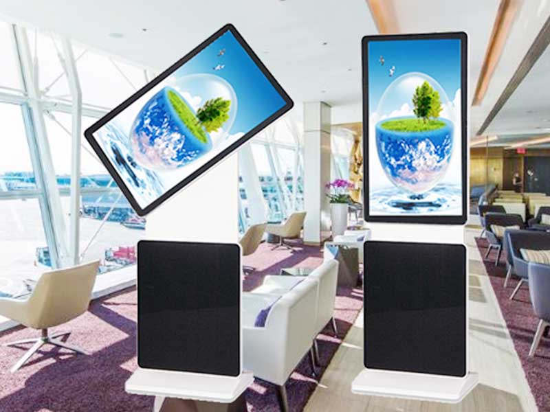 YEROO-Find Digital Signage Totem Indoor Lcd Display Screen With Trash Can |-7