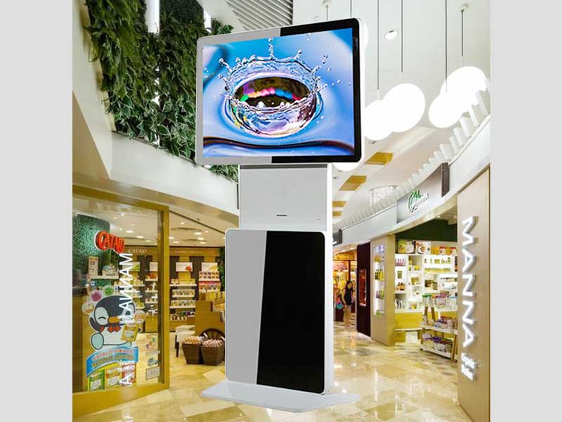 advertising kiosk digital signage kiosk floor smart shopping-9