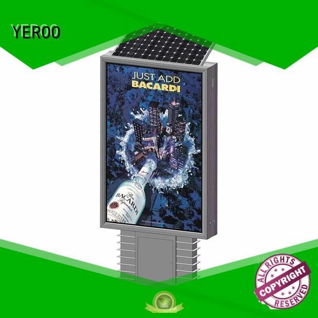 powered aluminum frame light box power for advertising YEROO