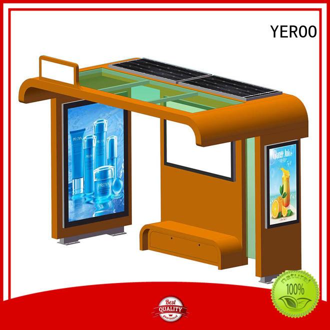 metal solar bus stop shelter kiosk for bus stop YEROO