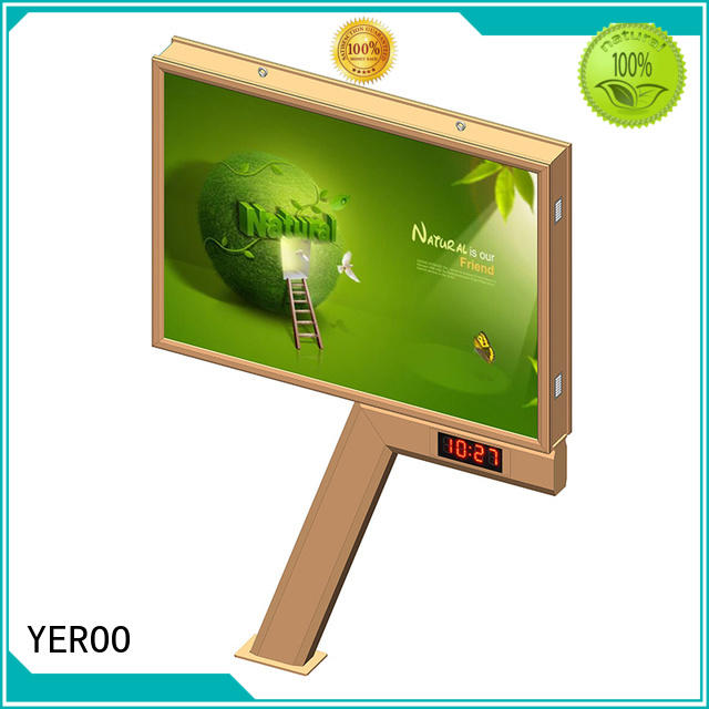 convenient advertising backlit billboard steel structure for highway YEROO