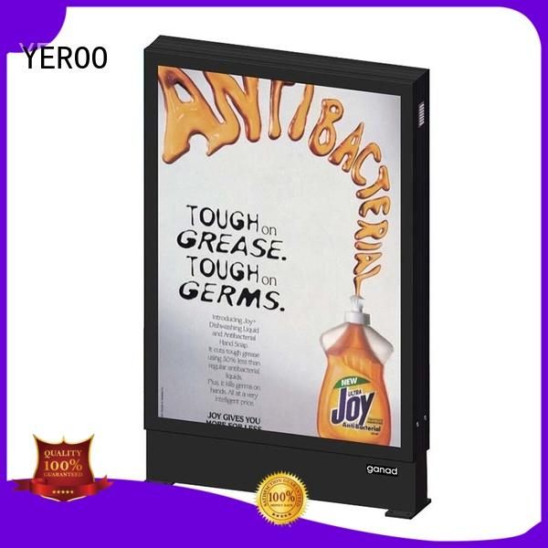 YEROO hot-sale scrolling advertising light box advertising outdoor