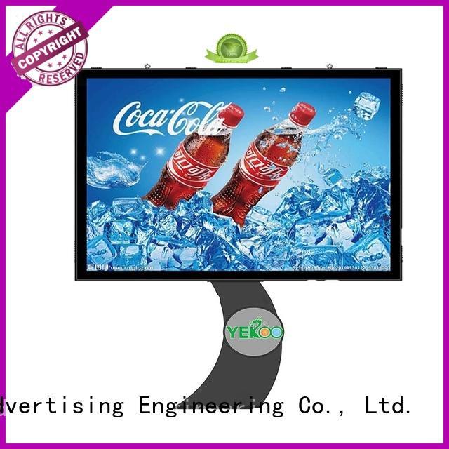 YEROO shaped scrolling poster billboard city