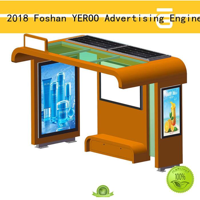 solar bus stop kiosk bus YEROO