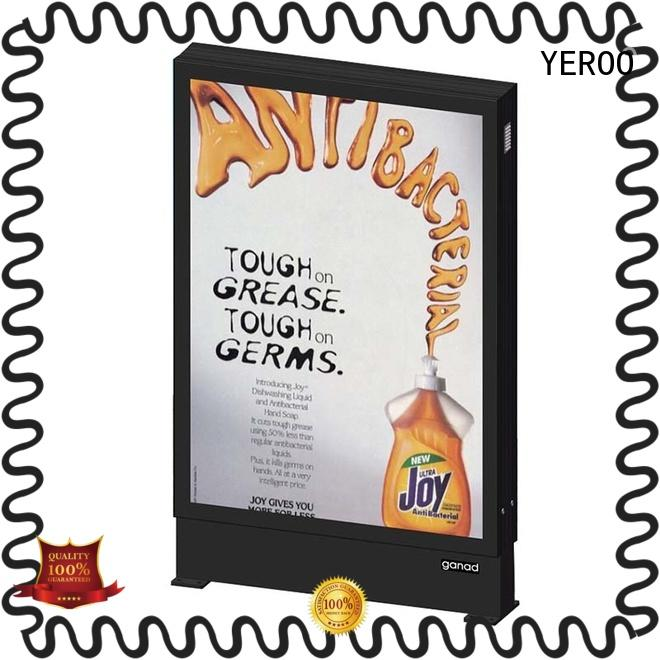 YEROO cheap backlit sign box wall for advertising