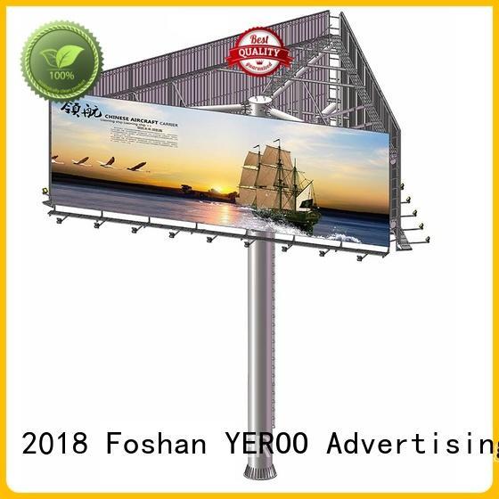 steel structure billboard advertising prices three sides billboard advertising prices three company
