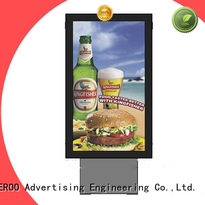 sided outdoor light box sign stainless outdoor light YEROO