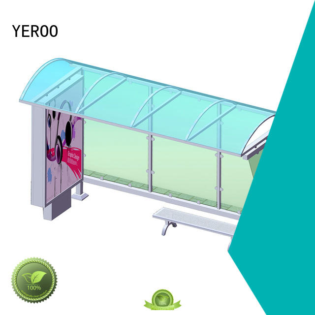 shelter stainless shelter YEROO Brand interactive bus shelter
