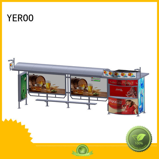 YEROO solar bus shelter for outdoor ads