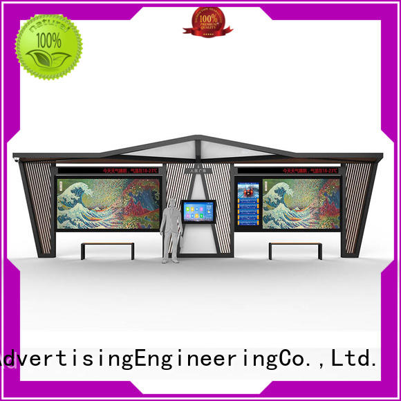 street structure bus shelter ad customization service for suburb YEROO
