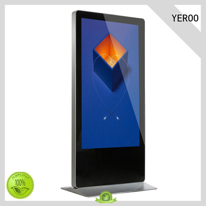YEROO interactive digital signage displays favorable quality for store