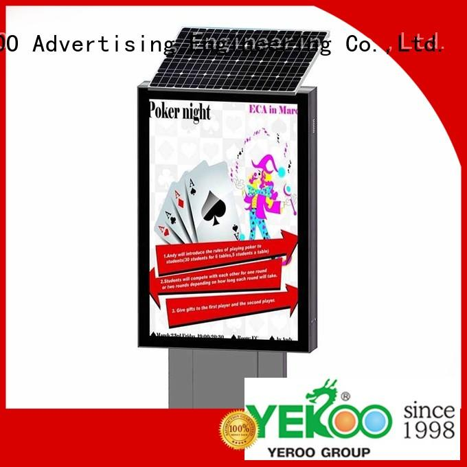 YEROO light box stand bulk production for outdoor ads