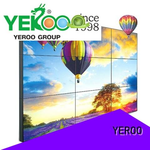 full color touch screen digital signage bin street adverting YEROO