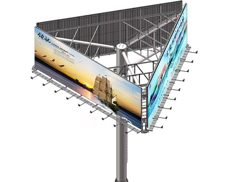 round shaped free standing billboard bulk production for city ads YEROO-3
