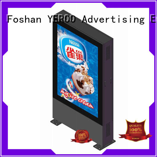 YEROO outdoor led screen free standing for super market