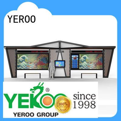 YEROO smart bus stop for outdoor