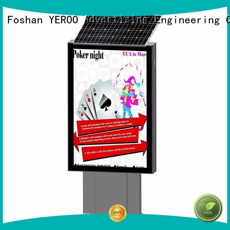 YEROO stainless steel aluminum light box outdoor light for advertising
