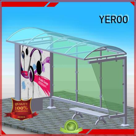 metal bus stop shelter metal for station